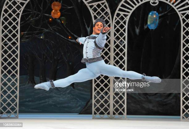 Marcelino Sambe as Blue Boy in The Royal Ballet'u2019s production of Frederick Ashton'u2019s Les Patineurs at The Royal Opera House on December 17...