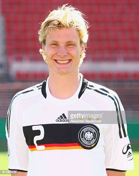Marcell Jansen of Germany poses at the team photocall at the Son Moix stadium on May 29 2008 in Mallorca Spain