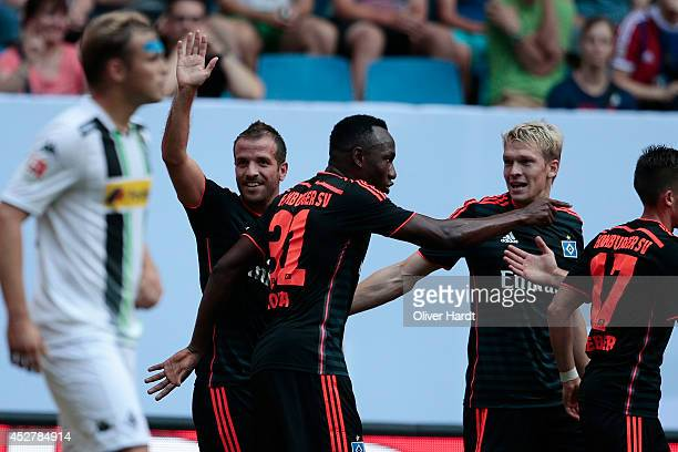 Marcell Jansen of Hamburg during the Telekom Cup 2014 match between Borussia Moenchengladbach and Hamburger SV at Imtech Arena on July 27, 2014 in...
