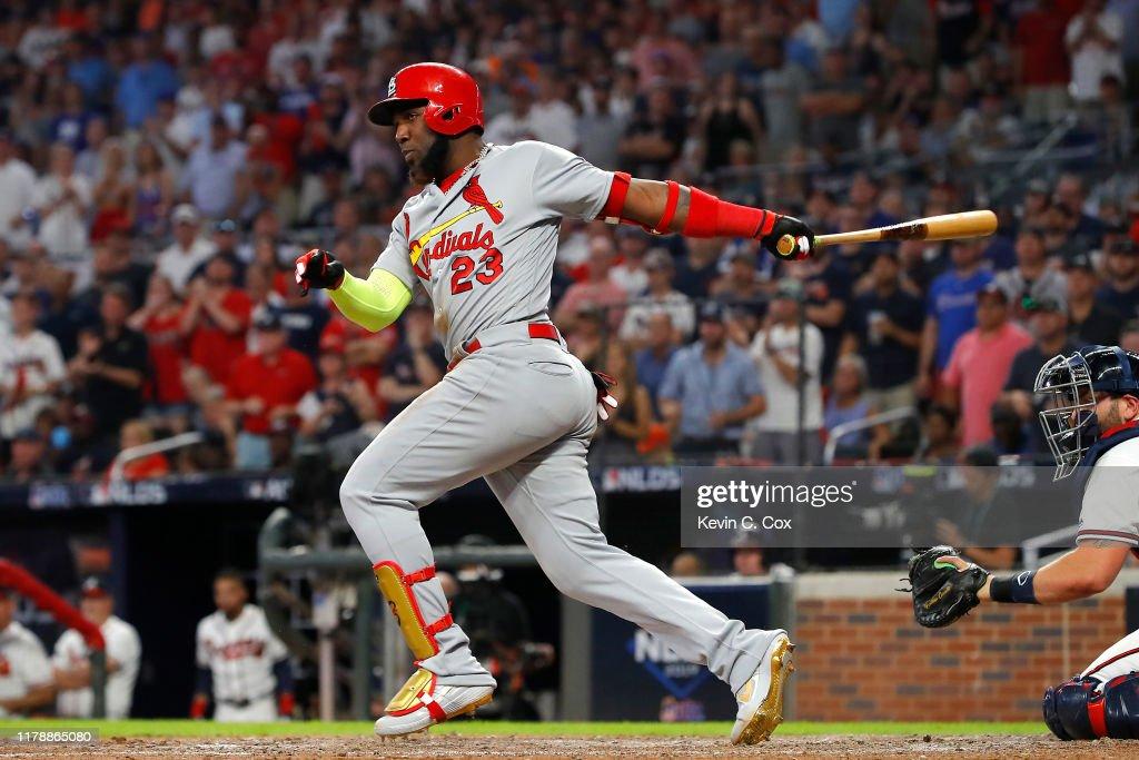 Divisional Series - St Louis Cardinals v Atlanta Braves - Game One : News Photo