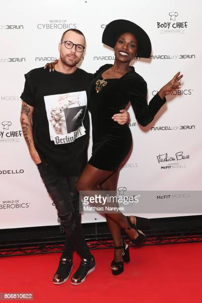 Marcell Von Berlin and Nikeata Thompson during the Marcell Von Berlin 'Genesis' collection presentation on July 3 2017 in Berlin Germany