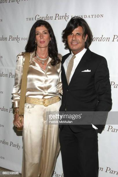 Marcella Barrett and Michael Morelli attend Celebrating Fashion Gala Awards Dinner to Support The GORDON PARKS Foundation at Gotham Hall on June 2...