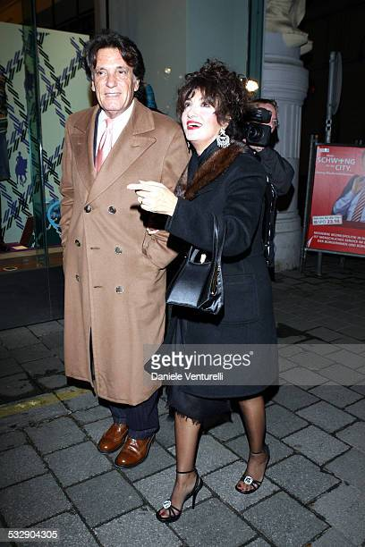Marcella Bella and Mario Merello during Karl Hainz Grasser and Fiona Swarovski Wedding Reception at Ristorante Meini in Vienna Wien Austria