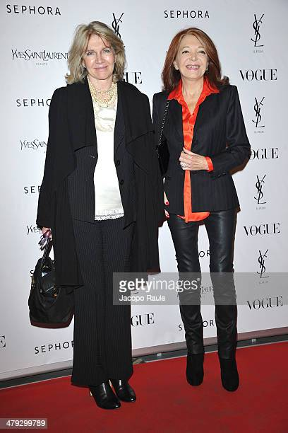 Marcella Castellini and Bedy Moratti attend 'Yves Saint Laurent' Premiere on March 17 2014 in Milan Italy