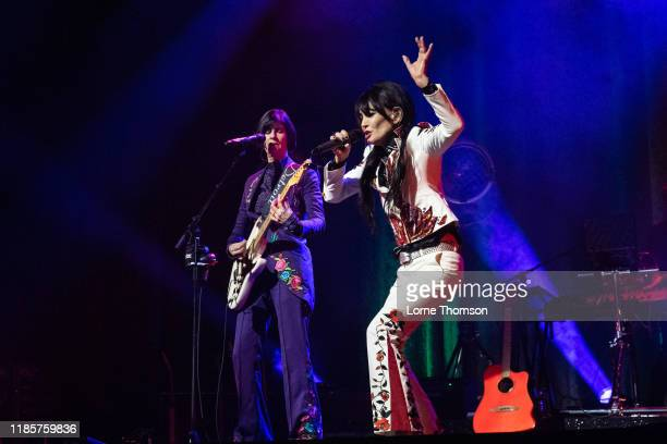 Marcella Detroit and Siobhan Fahey of Shakespears Sister perform at Palladium Theatre on November 05 2019 in London England