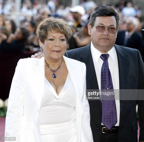 Marcella Quintanilla and Abraham Quintanilla during 'Selena iVIVE' Tribute Concert Arrivals at Reliant Stadium in Houston Texas United States