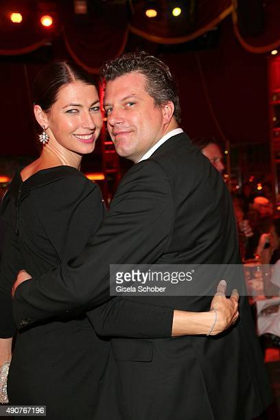 Marcella Siegel and her husband Christoph Sieder during Ralph Siegel's 70th birthday party at Schuhbeck's Teatro on September 30 2015 in Munich...