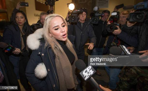 Marcella Zoia leaves College Park court after appearing on charges related to the chair throwing incident Toronto Star/Rick Madonik
