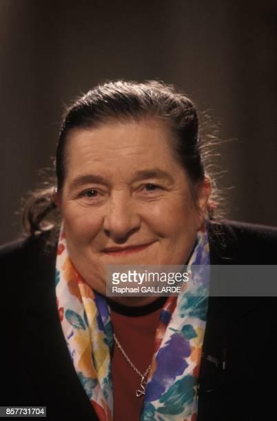 Marcelle Delpastre invitee a l'emission televisee 'Bouillon de culture' sur Antenne 2 le 26 fevrier 1994 a Paris France
