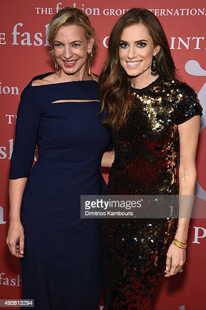 Marcelle Parrish and actress Allison Williams attends the 2015 Fashion Group International Night Of Stars Gala at Cipriani Wall Street on October 22...