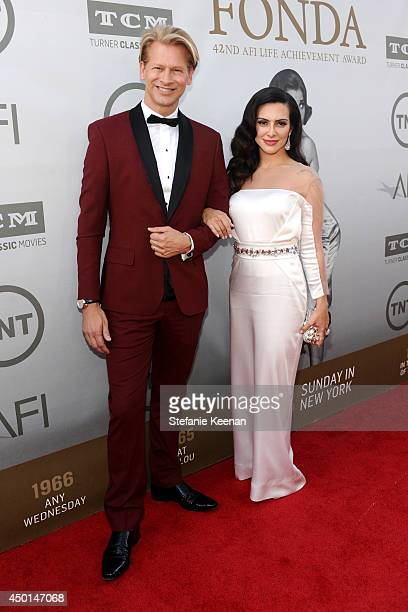 Marcello Coltro Executive Vice President COO of Chello Latin America and actress Cleo Pires attend the 2014 AFI Life Achievement Award A Tribute to...