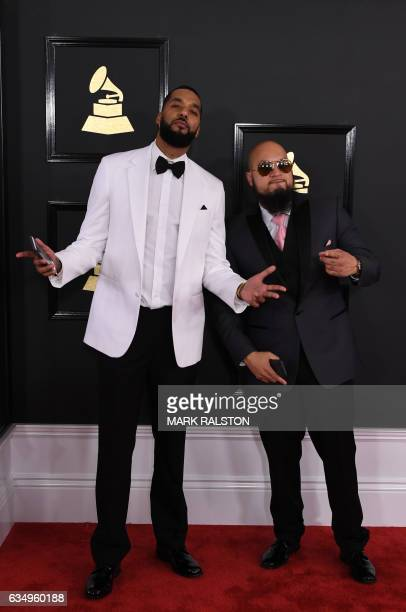 Marcello 'Cool' Antonio Valenzano and Andre 'Dre' Christopher Lyon arrive for the 59th Grammy Awards pretelecast on February 12 in Los Angeles...