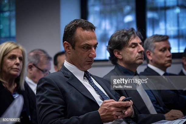 Marcello De Vito during Virginia Raggi meets entrepreneurs of CNA