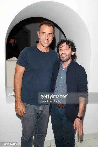 Marcello Fonte and Matteo Garrone attend 2018 Ischia Global Film Music Fest on July 18 2018 in Ischia Italy