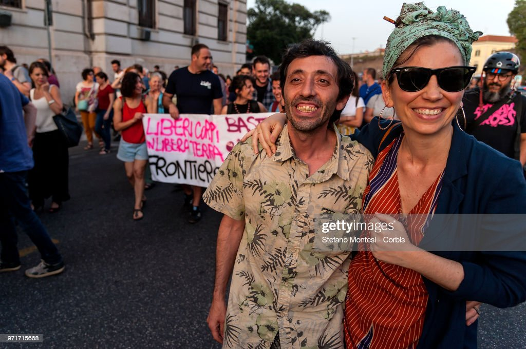 Italians Attend An Anti-Racist Demonstration : News Photo