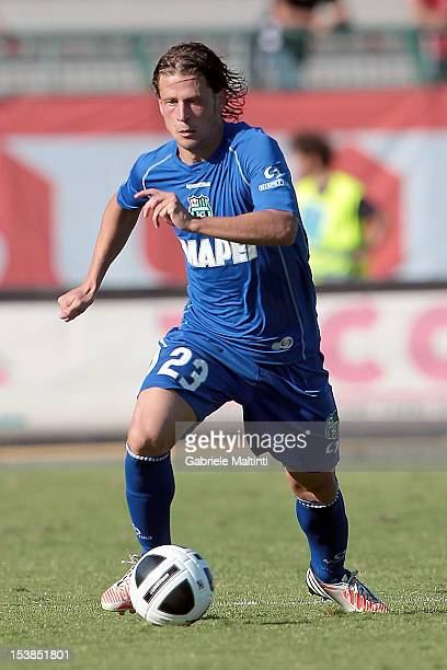 Marcello Gazzola of US Sassuolo in action during the Serie B match between US Grosseto FC and US Sassuolo at Stadio Olimpico on October 6 2012 in...