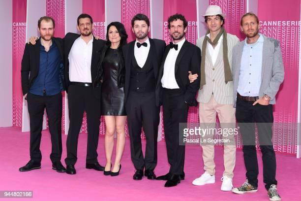 Marcello IzzoSilvia Ebreul Stefano LodovichiFrancesco Montanari and Davide Marengo from the serie 'Il Cacciatore' attend the Closing Ceremony and...