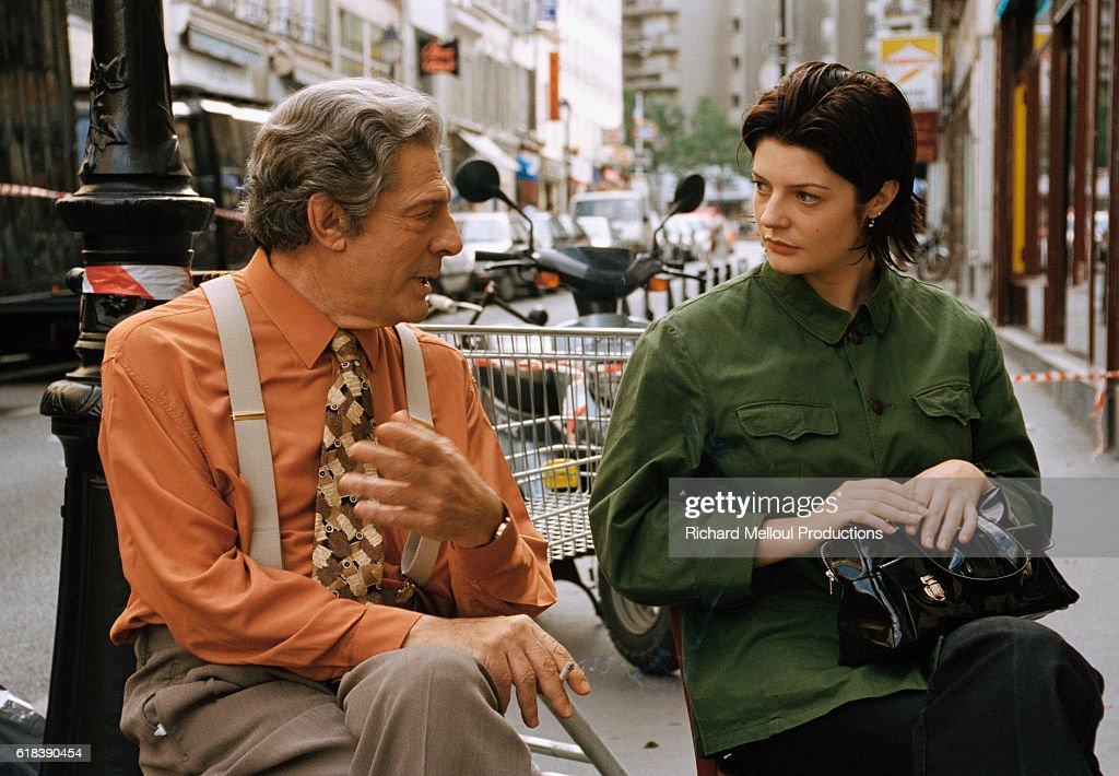 Marcello Mastroianni and daughter Chiara Mastroianni, on ...
