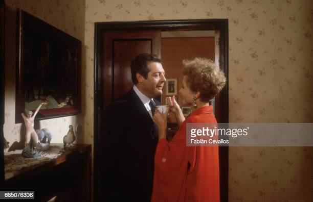 Marcello Mastroianni and Hanna Schygulla appear together in the 1983 Italian film Storia di Piera Directed by Marco Ferreri and based on the story by...