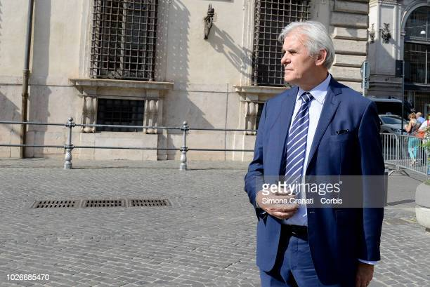 Marcello Nicchi at the end of the meeting with Undersecretary Giorgetti on federal elections and future reforms of the football system on September 4...
