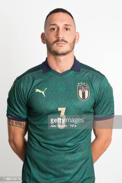 Marcello Percia Montani poses during the Italy team presentation prior to the FIFA Beach Soccer World Cup Paraguay 2019 on November 16, 2019 in...