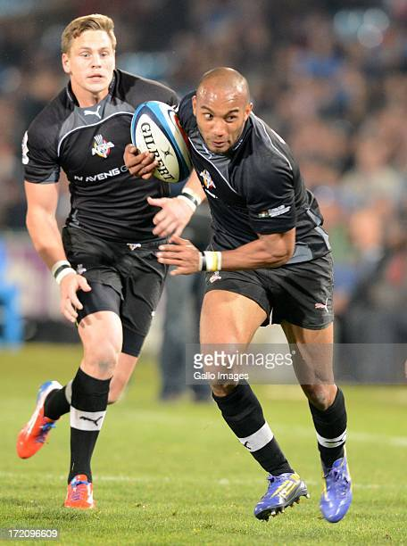 Marcello Sampson of the South Kings during the Super Rugby match between Vodacom Bulls and Southern Kings from Loftus Versfeld on June 29 2013 in...
