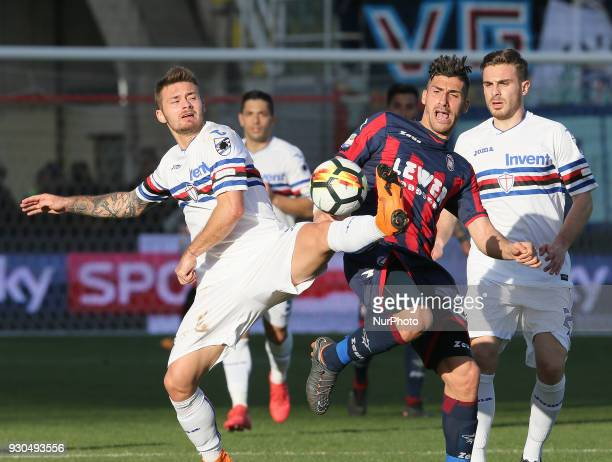 Marcello Trotta of Crotone during the serie A match between FC Crotone and UC Sampdoria at Stadio Comunale Ezio Scida on March 11 2018 in Crotone...