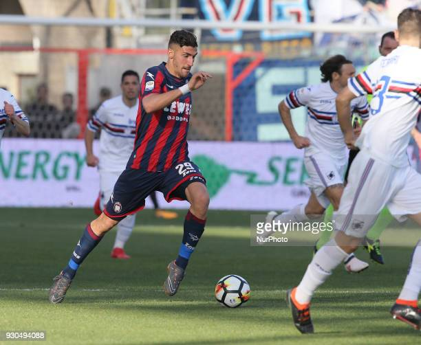 Marcello Trotta of Crotone runs the ball during the serie A match between FC Crotone and UC Sampdoria at Stadio Comunale Ezio Scida on March 11 2018...