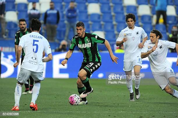 Marcello Trotta Sassuolo's forward in action during the US Sassuolo Calcio vs Unione Calcio Sampdoria Serie A football championship where the game...