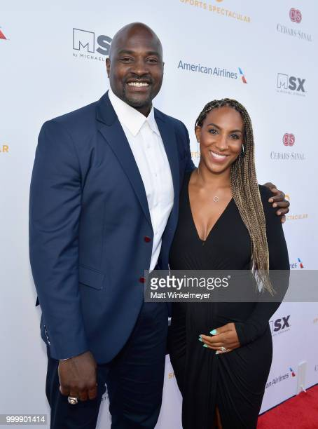 Marcellus Wiley and Annemarie Wiley attend the 33rd Annual CedarsSinai Sports Spectacular at The Compound on July 15 2018 in Inglewood California