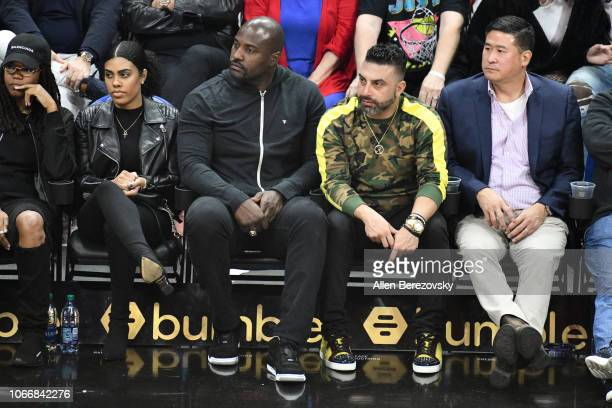 Marcellus Wiley attends a basketball game between the Los Angeles Clippers and the Golden State Warriors at Staples Center on November 12 2018 in Los...