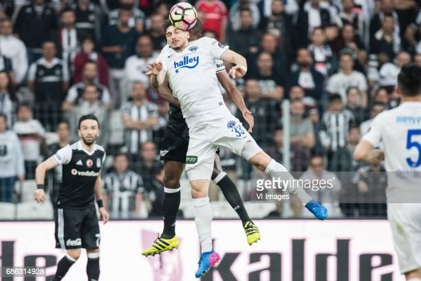 Marcelo Antonio Guedes Filho of Besiktas JK Mustafa Bhutan Altintas of Kasimpasa ASduring the Turkish Spor Toto Super Lig football match between...