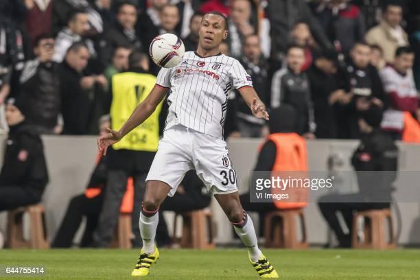 Marcelo Antonio Guedes Filho of Besiktas JKduring the UEFA Europa League round of 16 match between Besiktas JK and Hapoel Beer Sheva on February 23...