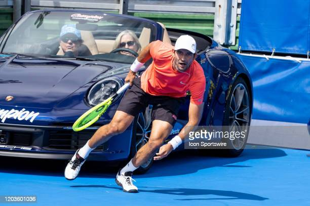 Marcelo Arevalo and Jonny OMara during the DoubleSemifinals of the ATP Delray Beach Open on February 22 at the Delray Beach Stadium & Tennis Center...