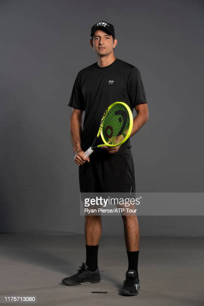 Marcelo Arevalo of Spain poses for his official full body portrait at the Australian Open at Melbourne Park on January 11, 2019 in Melbourne,...