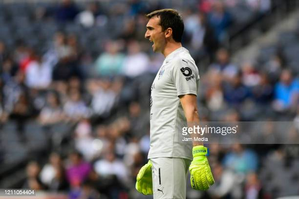 Marcelo Barovero Goalkeeper of Monterrey laments during the 9th round match between Monterrey and Atletico San Luis as part of the Torneo Clausura...