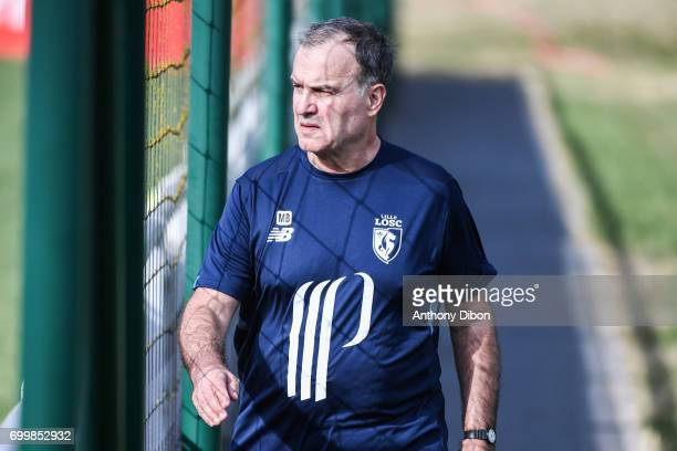 Marcelo Bielsa coach of Lille during training Session of Lille on June 22 2017 in Lille France