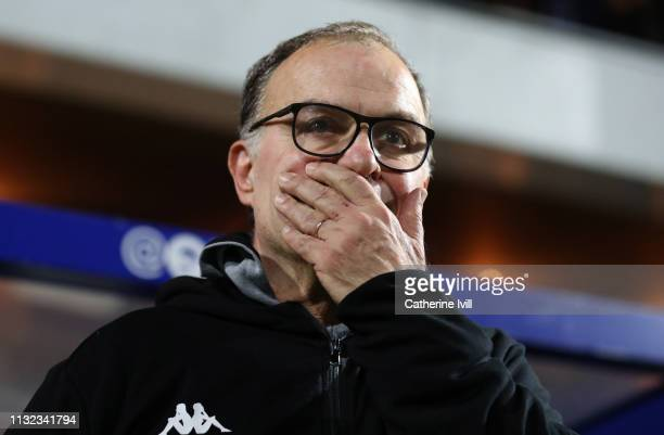 Marcelo Bielsa manager of Leeds United ahead of the Sky Bet Championship match between Queens Park Rangers and Leeds United at Loftus Road on...