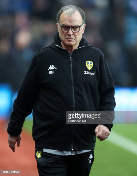 Marcelo Bielsa manager of Leeds United during the Sky Bet Championship match between Aston Villa and Leeds United at Villa Park on December 23 2018...