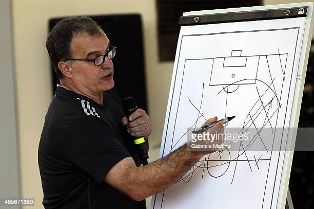 Marcelo Bielsa manager of OPlympique de Marseille during the Panchina D'oro season 20132014 on March 9 2015 in Florence Italy