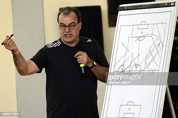 Marcelo Bielsa manager of OPlympique de Marseille during the 'Panchina D'oro season 20132014' on March 9 2015 in Florence Italy