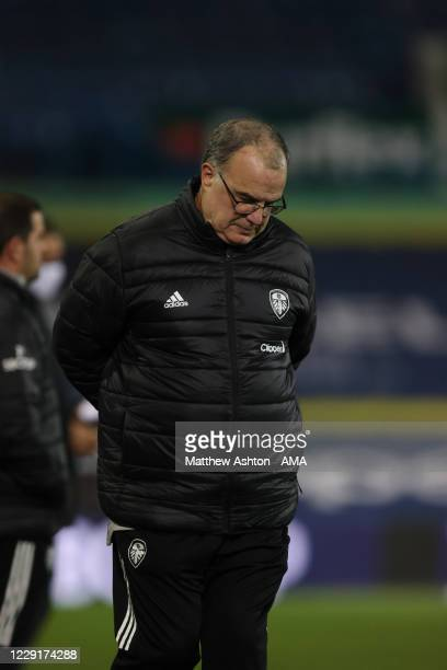 Marcelo Bielsa the head coach / manager of Leeds United during the Premier League match between Leeds United and Wolverhampton Wanderers at Elland...