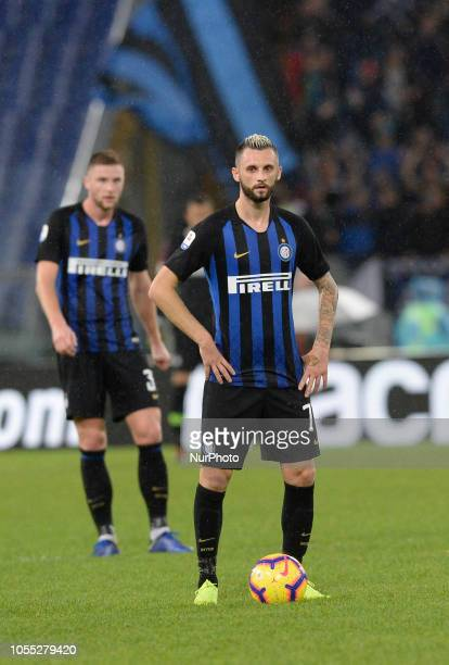 Marcelo Brozovic during the Italian Serie A football match between SS Lazio and Inter at the Olympic Stadium in Rome on october 29 2018