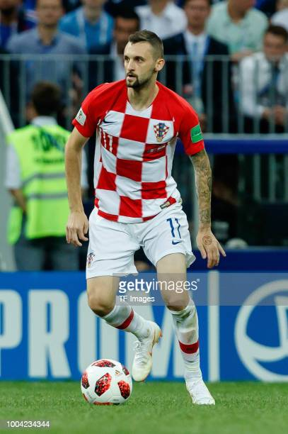 Marcelo Brozovic of Croatia controls the ball during the 2018 FIFA World Cup Russia Final between France and Croatia at Luzhniki Stadium on July 15...