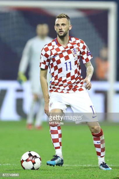 Marcelo Brozovic of Croatia controls the ball during the FIFA 2018 World Cup Qualifier playoff first leg match between Croatia and Greece at Maksimir...