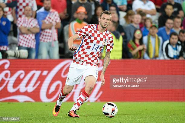 Marcelo Brozovic of Croatia during the European Championship match Round of 16 between Croatia and Portugal at Stade BollaertDelelis on June 25 2016...