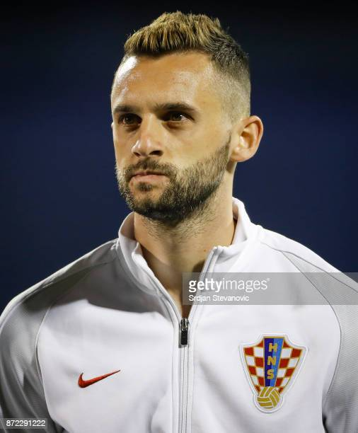 Marcelo Brozovic of Croatia looks on prior to the FIFA 2018 World Cup Qualifier PlayOff First Leg between Croatia and Greece at Stadion Maksimir on...
