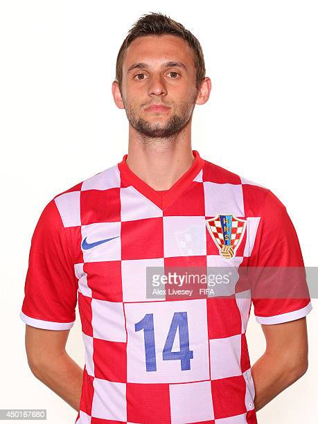 Marcelo Brozovic of Croatia poses during the official FIFA World Cup 2014 portrait session on June 5 2014 in Salvador Brazil