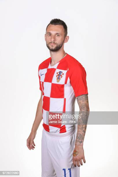 Marcelo Brozovic of Croatia poses during the official FIFA World Cup 2018 portrait session at on June 12 2018 in Saint Petersburg Russia