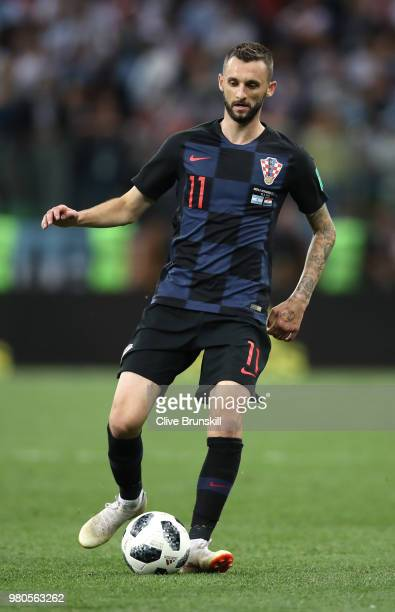 Marcelo Brozovic of Croatia runs off the ball during the 2018 FIFA World Cup Russia group D match between Argentina and Croatia at Nizhny Novgorod...